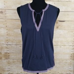 J. Crew Tank With Embroidered Ribbon Detailing